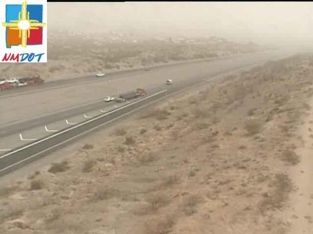A dust storm moving through the Las Cruces area Tuesday limits visibility to less than a quarter of a mile in some areas.