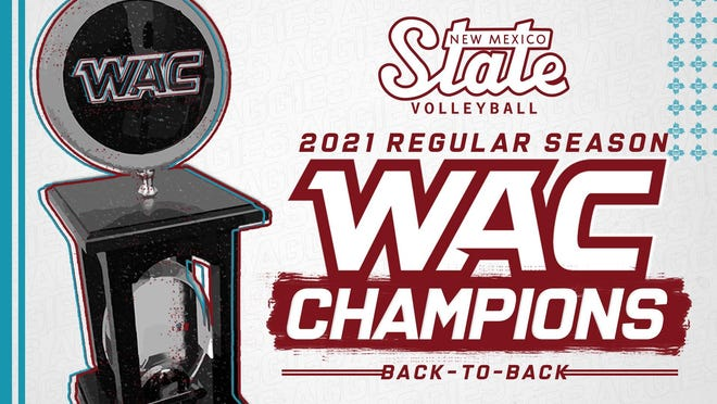 New Mexico State swept Tarleton State to win its second straight Western Athletic Conference regular season title.