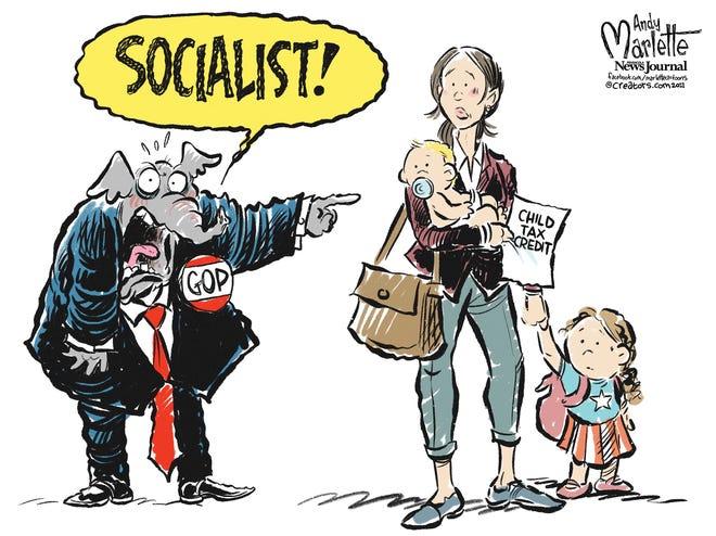 "Marlette cartoon: Republicans identify more ""radical socialism"" in COVID relief bill."