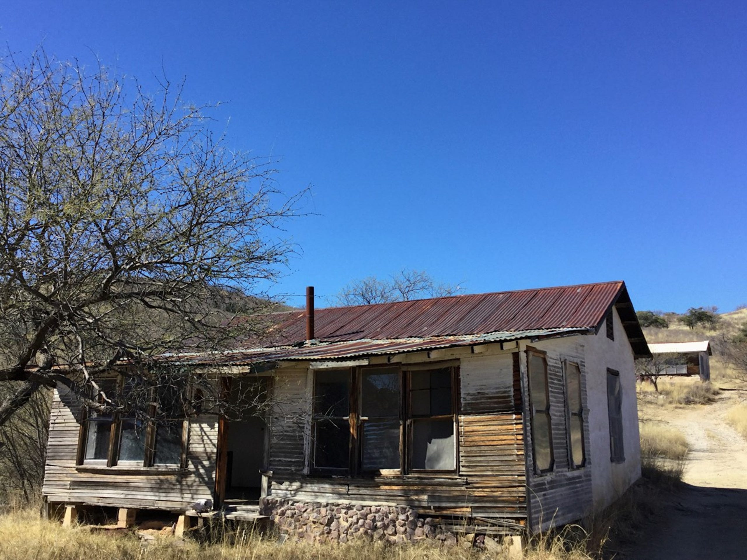 More than a dozen buildings are still standing in the ghost town of Ruby, Arizona.