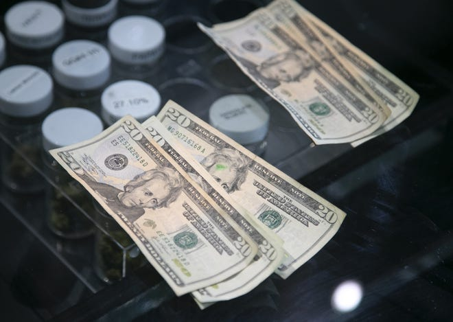 Reps. Steve Stivers, R-Columbus, and Warren Davidson, R-Troy, are among the lead cosponsors on a bill to allow legal marijuana businesses to access banking services.