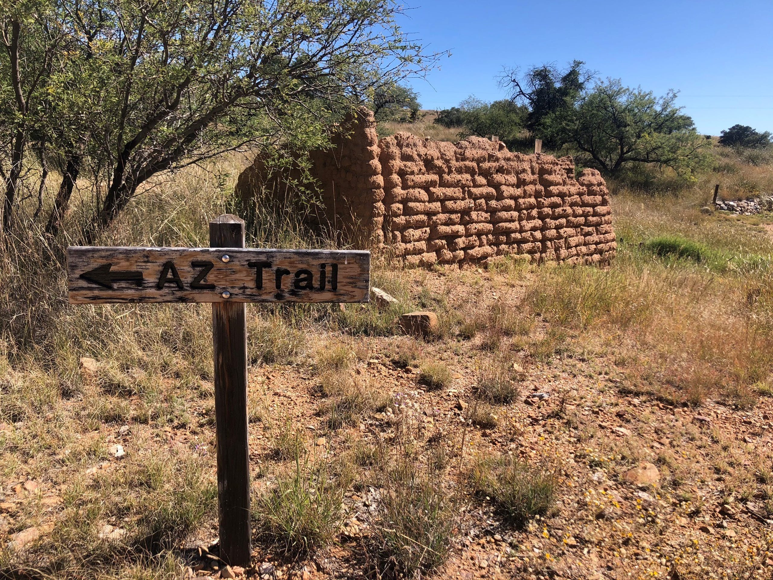 The 800-mile-long Arizona National Scenic Trail is routed through Kentucky Camp ghost town in southern Arizona.