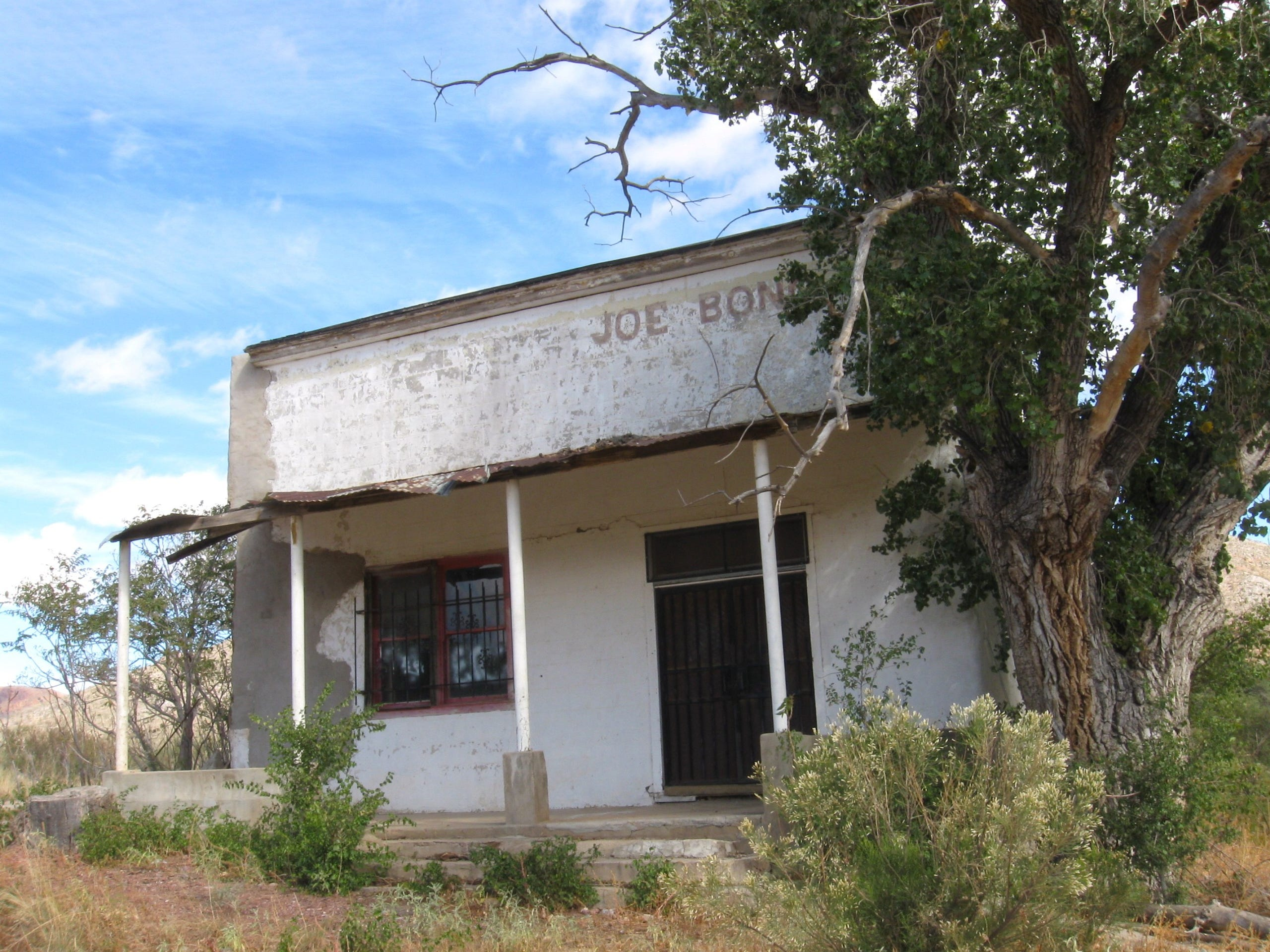 Joe Bono, who purchased the ghost town of Gleeson, Arizona, in 2014, is the son of the man who first opened the general store.
