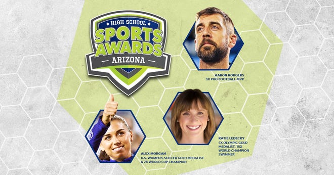 Aaron Rodgers, Alex Morgan and Katie Ledecky will be among a highly decorated group of presenters and guests in the Arizona High School Sports Awards.