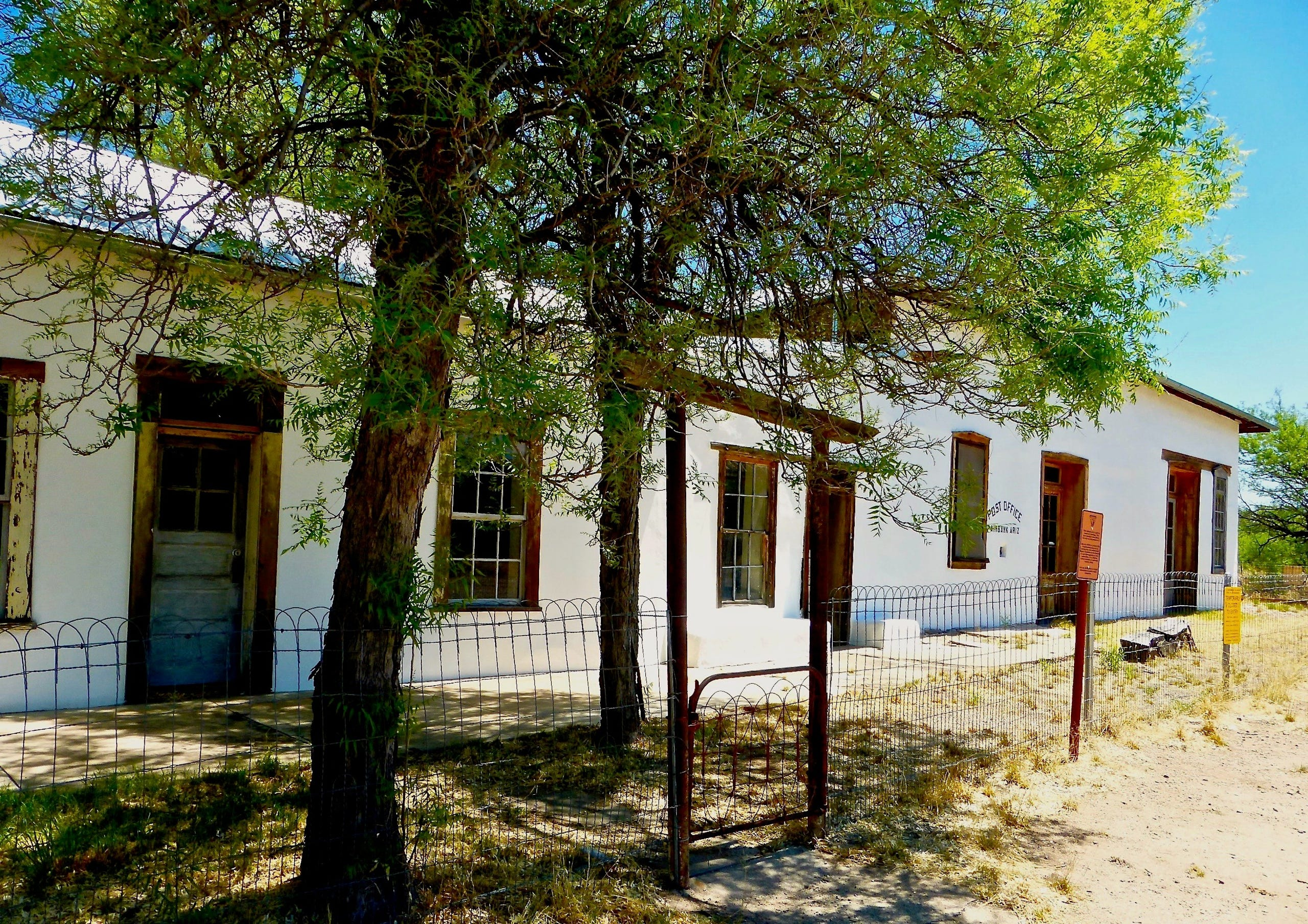 The mercantile and post office are among the structures still standing in Fairbank, Arizona.