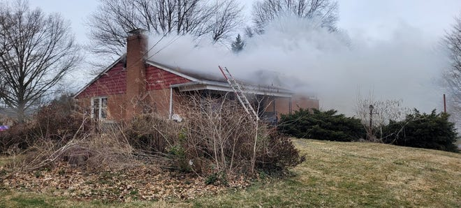 Firefighters responded to a residential fire about 9:15 a.m. in Dover Twp. on March 16, 2021.