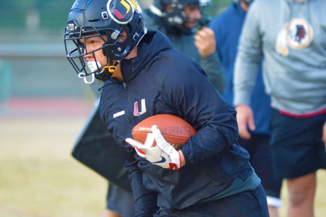 Tulare Union's Josh Rodriguez practices on March 11, 2021 in Tulare.