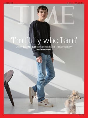 Elliot Page covers the March/April Time magazine cover issue.
