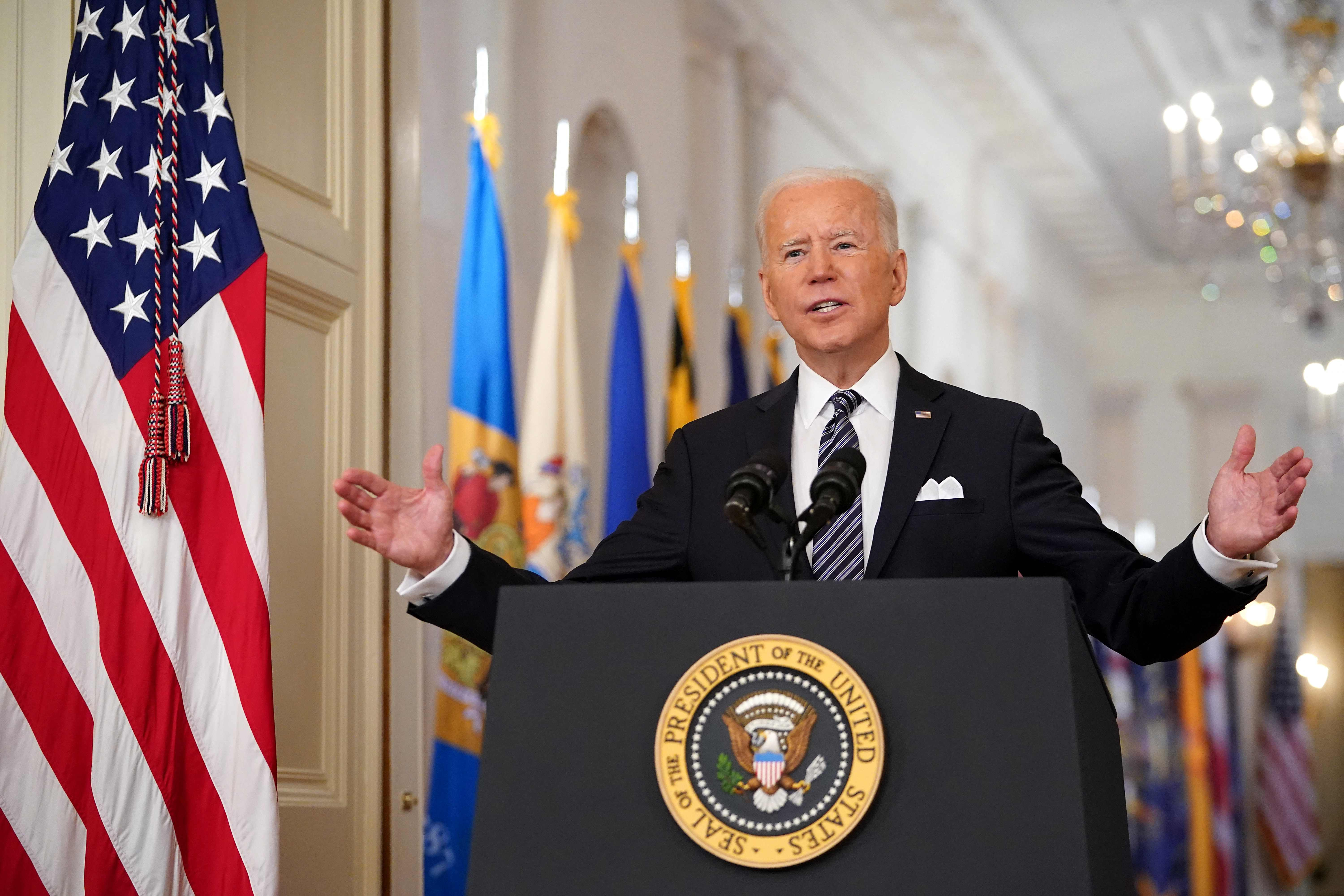 President Biden to hold first press conference next week on 64th day in office