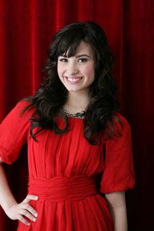 Demi Lovato posing for a portrait in New York in January 2009.