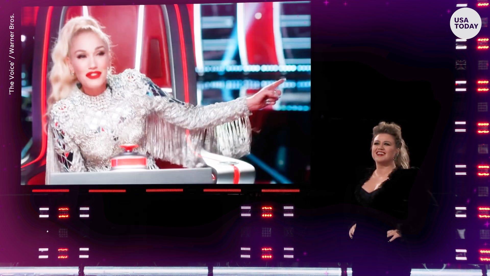 Kelly Clarkson uses a secret weapon, Gwen Stefani, against Blake Shelton on 'The Voice'