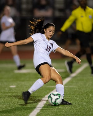 """Round Rock junior forward Alycia Buenaventura hopes to play soccer at a four-year college and study kinesiology. Her favorite part of the sport is """"the adrenaline rush"""" she feels before each game."""