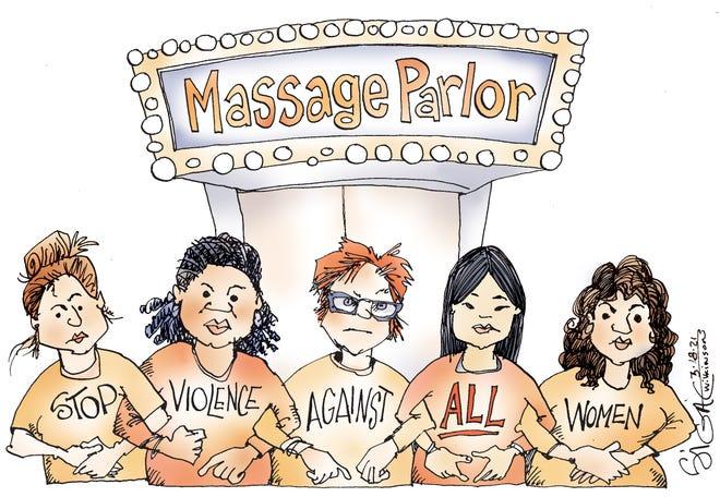 Signe cartoonViolence Against ALL Women