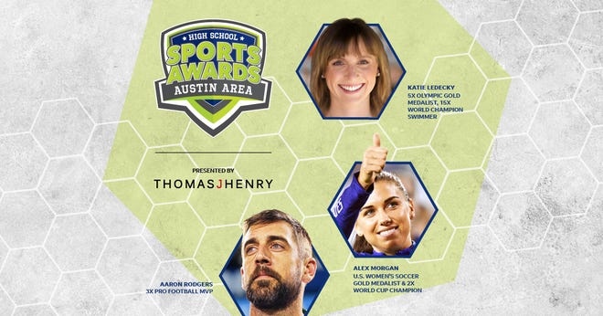 Aaron Rodgers, Alex Morgan and Katie Ledecky will be among a highly decorated group of presenters and guests in the Austin Area High School Sports Awards.