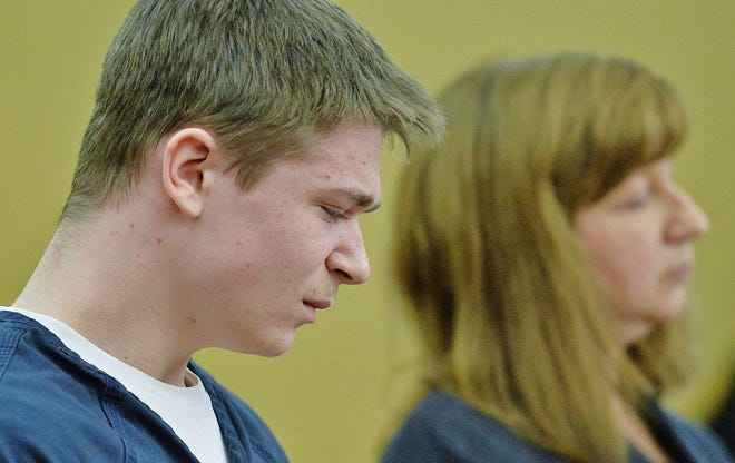 Gavon Ramsay struggles to hold back tears as Medina County Common Pleas Judge Joyce Kimbler announced he will be transferred to jail after finding him guilty of multiple charges in November 2018.