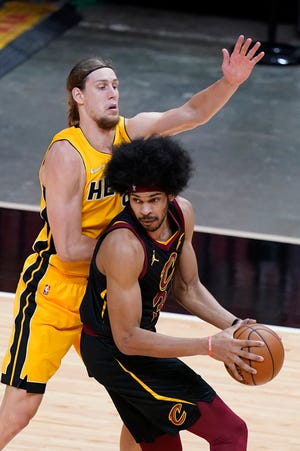 Cavaliers center Jarrett Allen is out for Saturday night's game against the Sacramento Kings with a concussion. [Wilfredo Lee/Associated Press]