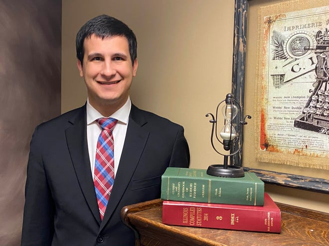 Jake Snowman is an emerging lawyer employed by Meade Law in Canton after passing the Illinois State Bar just a few months ago.