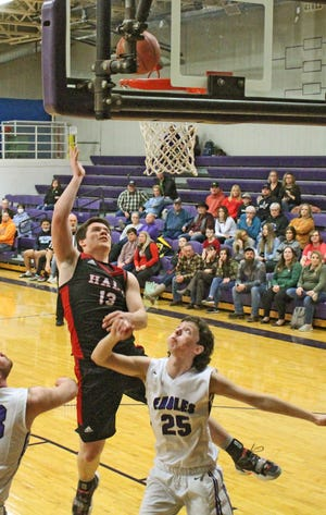Senior forward Jaeden Sears of Hale High School and the Hale/Bosworth co-op basketball program, has been voted the Carroll-Livingston Activity Association's boys' basketball co-most valuable player for the recent 2020-21 season. He shares the honor with senior Hunter Stockwell of Mendon: Northwestern.