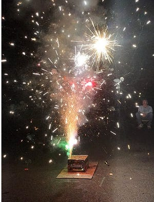 Hawley Council is weighing a ban on fireworks in the borough, or impose restrictions. This backyard display, location not given, was pictured July 4, 2019, by Jarek Tuszynski. https://en.wikipedia.org/wiki/Creative_Commons