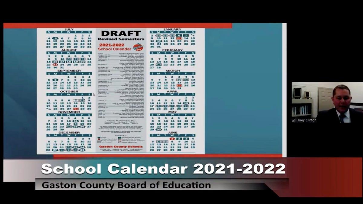 Unc Academic Calendar 2022.Gaston County School Board Sets 2021 2022 Academic Calendar