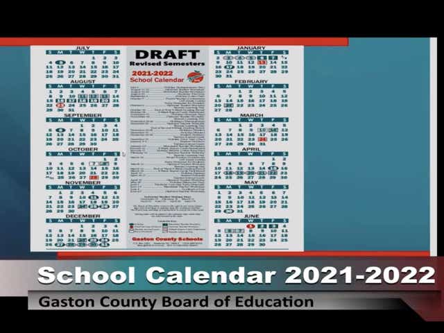 Unc Academic Calendar Fall 2022.Gaston County Schools Students Will Take Exams Before Christmas