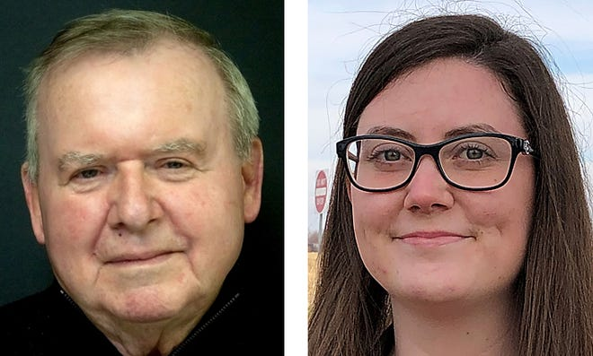 From left, Wayne Allen and Sarah Davis are vying for one seat from Ward 6 on the Galesburg City Council.