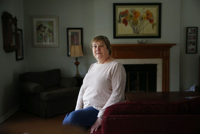 Beth Bales Olson is seen at her home in Geneva on March 15, 2021. She is 64 and was just scheduled for her first vaccine on March 18, 2021, at Northwestern Memorial Hospital in Chicago.  (Stacey Wescott/Chicago Tribune/TNS)