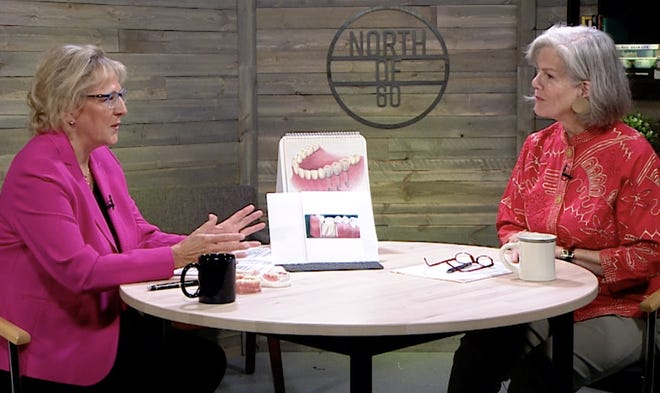 "Dr. April Yanda, DDS, talks about seniors' dental health with host Heidi Schweighoefer on ""North of 60""."