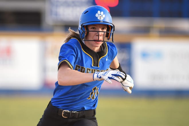 Frenship's Blair Collier (10) rounds third base during the softball game against Midland Lee on Tuesday March 16, 2021 at Tiger Field in Wolfforth, Texas.