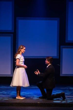 "Savannah Tagliaferro and Matt Rothenburg star in Cumberland Theatre's production of ""The Last Five Years."""