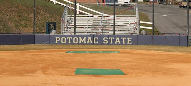 New sod was placed around home plate and the dugout areas to improve appearances and deal with a water issue at Potomac State College's softball field.