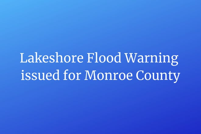 Lakeshore Flood Warning issued for Monroe County