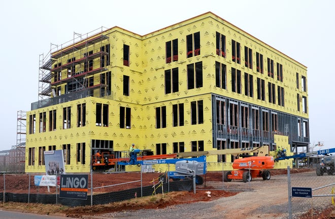 Developer Clay Farha and investment partners have this office building, The Nicholas, going up at 6501 N Classen Blvd.