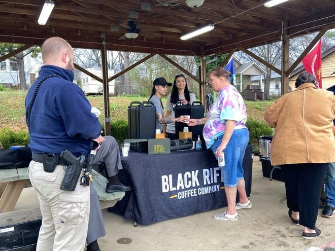 The Black Rifle Coffee Company, a veteran-owned company, visited the Robert Jack VFW Post 1322  in Van Buren on Wednesday, March 17, 2021, as part of a military-focused tour in Texas, Louisiana and Arkansas.