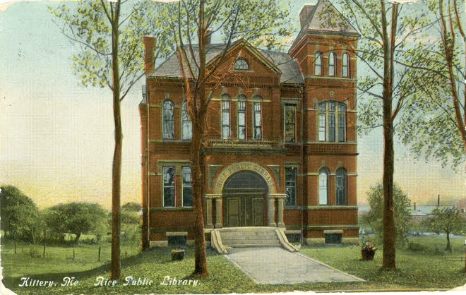 Kittery's 133-year-old Rice Public Library, seen here in a circa 1909 post card, has kicked off the construction phase of a $6.1 million expansion project.