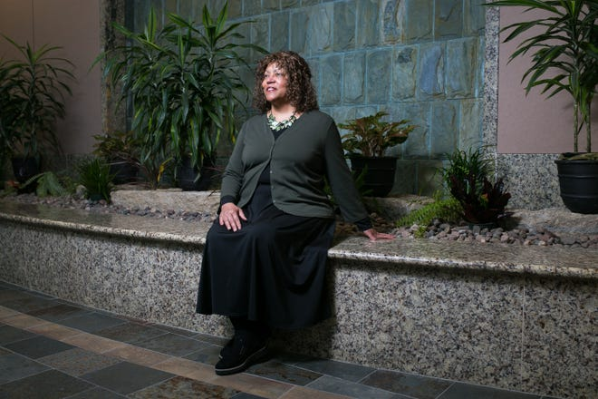 """Sheila Grumbach, director of surgical services at OSF Healthcare Saint Anthony Medical Center, is among the local Black health care workers trying to lead by example in order to build trust in the coronavirus vaccine. """"We have to get out there as health care providers as well as role model and answer any questions that people may have,"""" she said."""