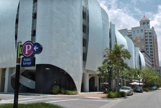 The Palm Avenue Parking Garage in downtown Sarasota in 2013.