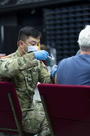 Members of the Oklahoma National Guard assist with COVID-19 vaccinations across the state. The Oklahoma National Guard continues working alongside Oklahoma State Department of Health partners throughout the state in the fight against COVID-19.