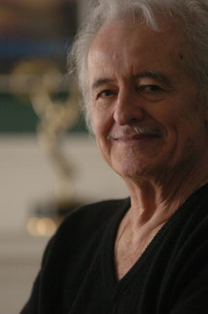 Henry Darrow, who once played Zorro on television, photographed at his home in Wilmington in 2004.