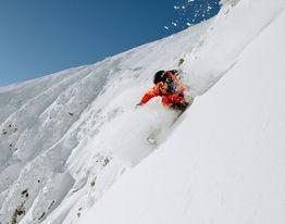 Ski The Whites owner Andrew Drummond makes his way down on Tuckerman Ravine in 2019.