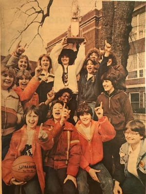 Forty years ago, the Claymont Mustangs celebrated their girls basketball Class AA State Championship outside the high school in Uhrichsville.