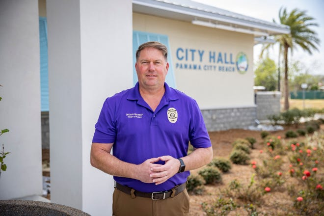 Drew Whitman, the new city manager for Panama City Beach, photographed at City Hall Wednesday, March 17, 2021.