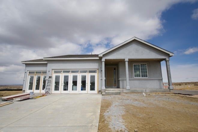 Richmond American Homes is developing 20 lots as part of the Seasons at Crewstview Hills subdivision on the north side of Pueblo. The above photo from March 13, 2021 is of a model home being built at 2301 Sunrise Lane.