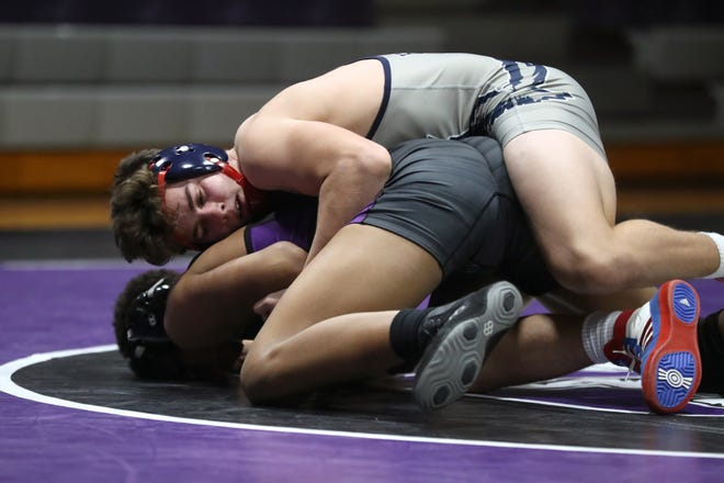 Hartley sophomore Dylan Newsome placed second at 170 pounds in the Division II state tournament March 14 at Sparta Highland. Newsome finished the season 46-1.