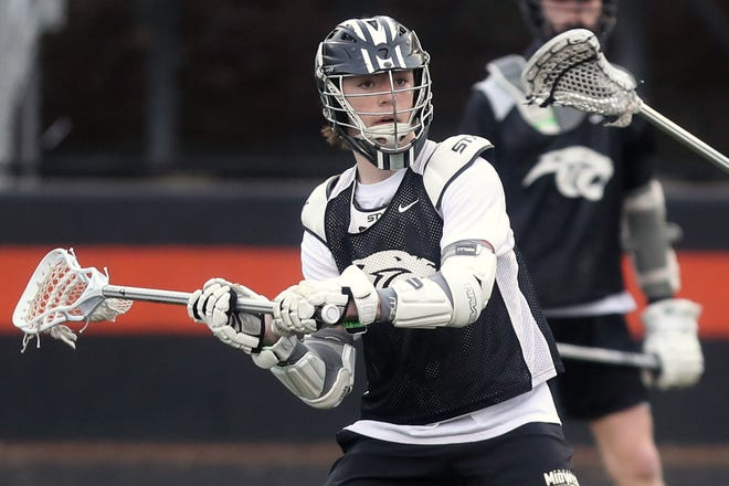 """Junior attacker Bennet Trout is part of a large group of returnees for the North boys lacrosse team. """"Our juniors and seniors have been playing together for what seems like forever,"""" coach Kurt Restuccio said."""