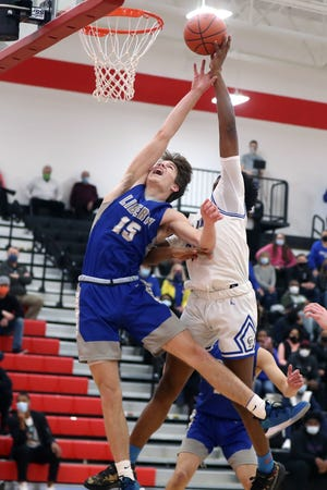 Liberty's Andrew Wade was one of six seniors for the Patriots, who reached the Division I regional tournament for the second time in three seasons, losing to Gahanna 47-39 to finish 20-6. Wade averaged 13.0 points and was second-team all-league and honorable mention all-district.
