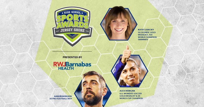 Three-time NFL MVP Aaron Rodgers, two-time FIFA World Cup Champion Alex Morgan and five-time Olympic gold medalist Katie Ledecky will be among a highly decorated group of presenters and guests in the Jersey Shore High School Sports Awards