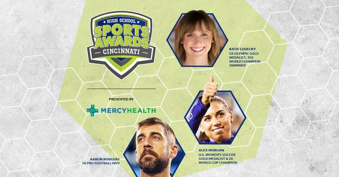 Three-time NFL MVP Aaron Rodgers, two-time FIFA World Cup Champion Alex Morgan and five-time Olympic gold medalist Katie Ledecky will be among a highly decorated group of presenters and guests in the CincinnatiHigh School Sports Awards premiering this summer on USA TODAY streaming platforms and channels. 