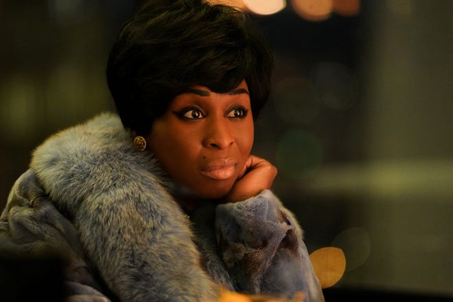 "Aretha Franklin, played by Cynthia Erivo, in a scene from NatGeo's ""Genius: Aretha."" (Credit: National Geographic/Richard DuCree)"