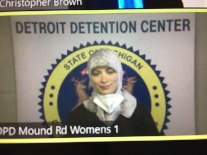 Saeedeh Elahi during her arraignment.